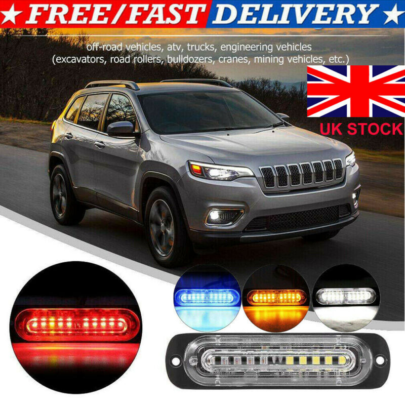 LED Car Dash Strobe Lights Flash Emergency Warning Lamp Police Bulbs Multi-Color
