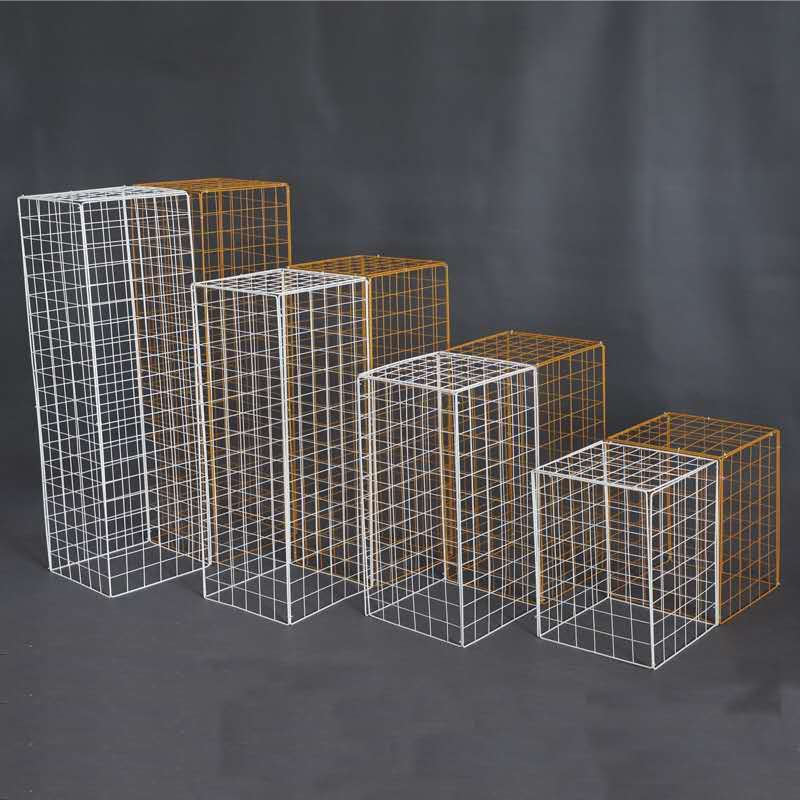 Wedding 4pcs grid plinth Iron square background stand table decoration road stage plinth