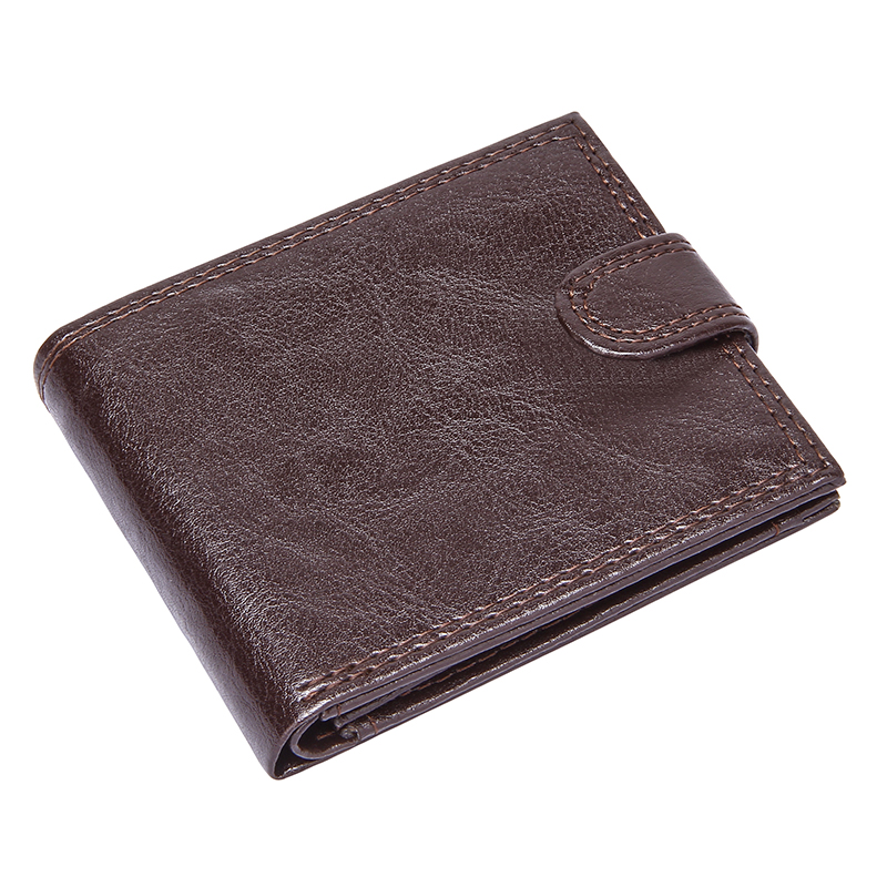 Slim Men Clutch Wallets Leather Bifold Short Purse Pu Leather Business Credit Card Holder With Coin Pocket Hasp Money Bags Male