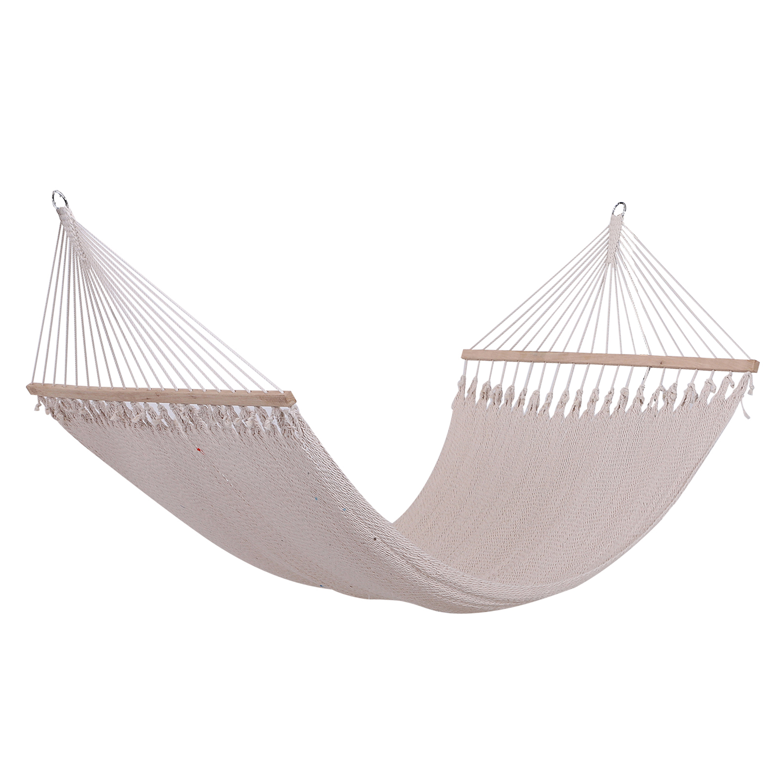 Outsunny Hammock Garden 2 People Easy To Assemble Polyester Polyester 210x152 Cm Cream