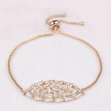 Fashion Woman CZ Jewelry Stunning Oval Shape CZ Stone Bracelet Bridal Wedding Jewelry Gift