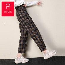 Rfzk Harajuku Plaid Pants For Women Trousers 2020 Streetwear Woman Hare