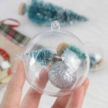10 шт., прозрачный шар 4/5/6/7 см, открывающийся пластиковый прозрачный шар, украшение для рождественской вечеринки, подвесной кулон, подарочная...