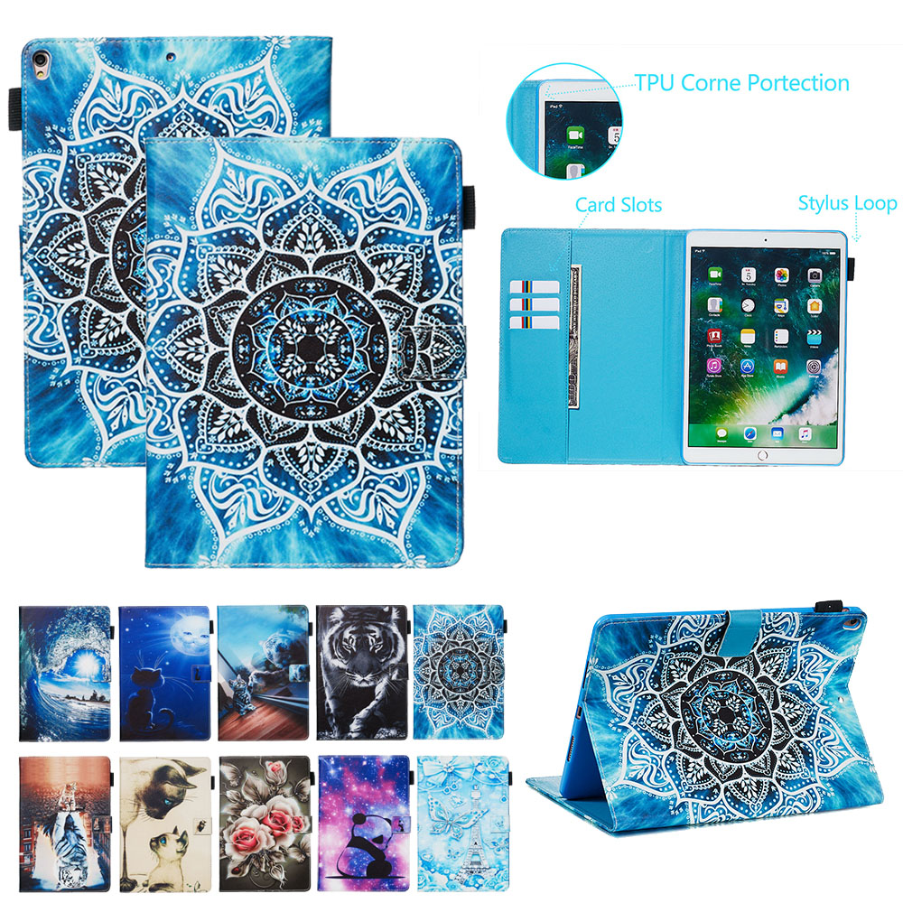 """For iPad Pro 10.5"""" 2017 case Cover Fashion Painted Leather Smart Case for iPad Air (3rd Gen) 10.5"""" 2019 Generation Coque Fanda"""