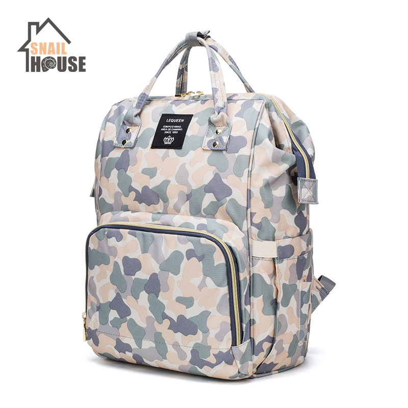 Snailhouse Fashion Mummy Maternity Nappy Bag Large Capacity Baby Travel Backpack Nursing Bags For Baby Care Stroller Diaper Bags