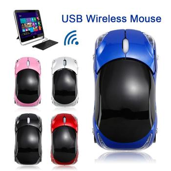 2.4G New Wireless Cool Car Shape Mice 1600 DPI Mouse Ferrari Race Car Shaped Mouse Optical Mouse For PC Desktop Laptop New image