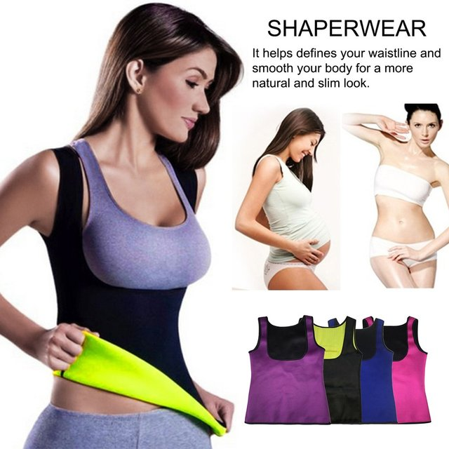 Thermo Sweat Women Waist Trainer Slimming Fitness Body Shapewear Tank Corset Vest Belt Beauty Cincher Slimming Wraps Product Hot
