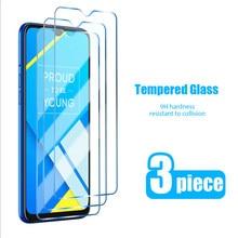 3 Pcs! 9h protetores de tela para realme 7 pro 6 7i 6s 5 vidro temperado para realme x2 pro x7 x50 5g x3 filme temperado em xt x u1