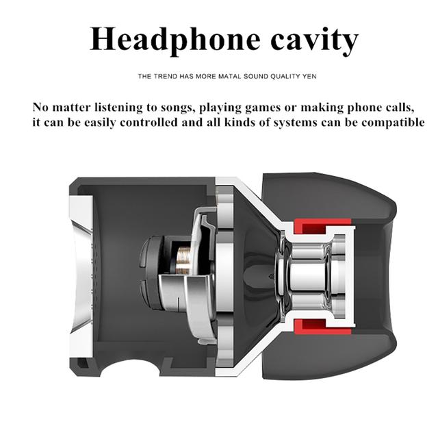 Wired Earphone In-Ear Bass Sound Waterproof HIFI