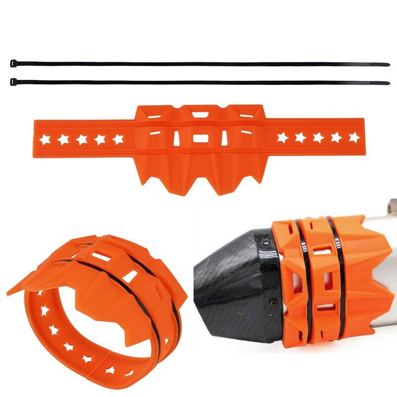 Протектор выхлопной трубы для KTM EXC EXCF SXF SX XC XCF XCW 250 300 350 450 525 530 200 2020 2019 2018 2017 2004-2016 оранжевый