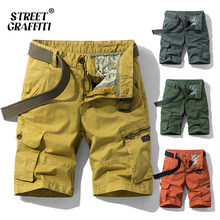 2021 New Spring Summer Men Cargo Shorts Cotton Relaxed Fit Camouflage Men's Denim Short Casual Pants Clothing Social Cargo Short