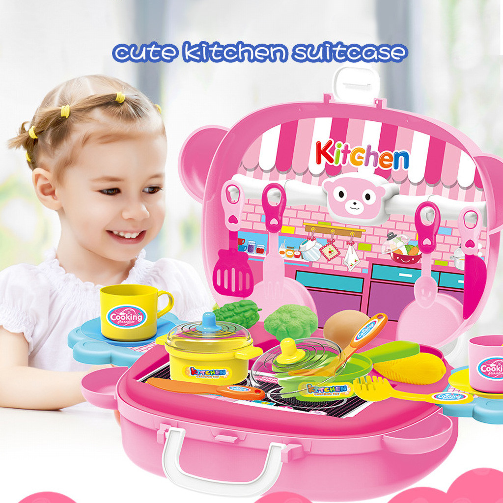 Puzzle Game Simulation Kitchen Toys Children Pretend Role-Playing Toy Children'S Play House Kitchen Toy Set####4
