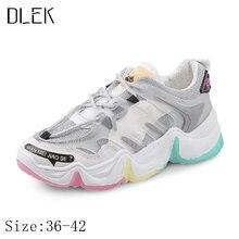Dlek женские кроссовки на платформе в Корейском стиле из искусственной