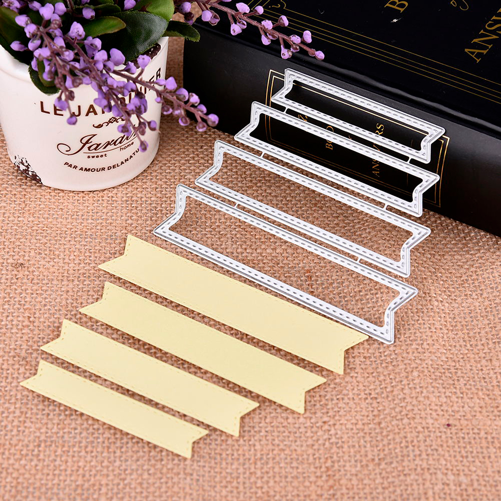 Album Card  Pierced Corner Frame Metal Steel Cutting Dies Handcrafts Embossing Knife Mold Stencil For DIY Scrapbooking