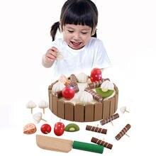 Деревянные детские кухонные игрушки ролевые для резки торта