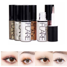 Professional Shiny Eye Liners Cosmetics Women Pigment Silver Rose Gold Color Liquid Glitter Eyeliner Makeup Beauty Cosmetics