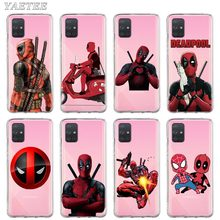 Marvel Deadpool Phone Case for Samsung Galaxy A10 A20 A30 A40 A50 A70 A51 A71 5G A21 A31 A41 A11 Soft Cover luxury venom marvel deadpool pattern for samsung galaxy a10 a20 a30 a40 a50 a70 m10 m20 phone case cover coque etui capinha capa