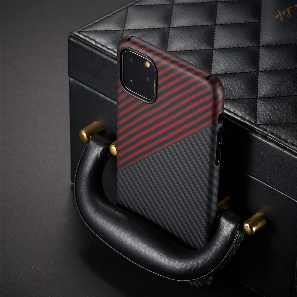 Image 2 - Thin strudy and lightweight protecive case for apple iphone 11 pro max carbon fiber back cover bumper aramid shellFitted Cases   -