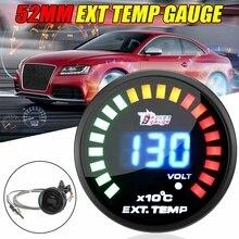 """2 """"52 мм Автомобильный датчик температуры выхлопных газов EGT цифровой светодиодный дисплей"""
