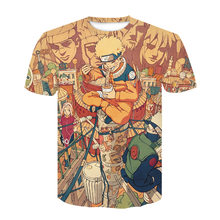 2021 Summer New Men's and Women's T-Shirts 3D Printing Japanese Anime Kakashi Children's Casual Fashion Top