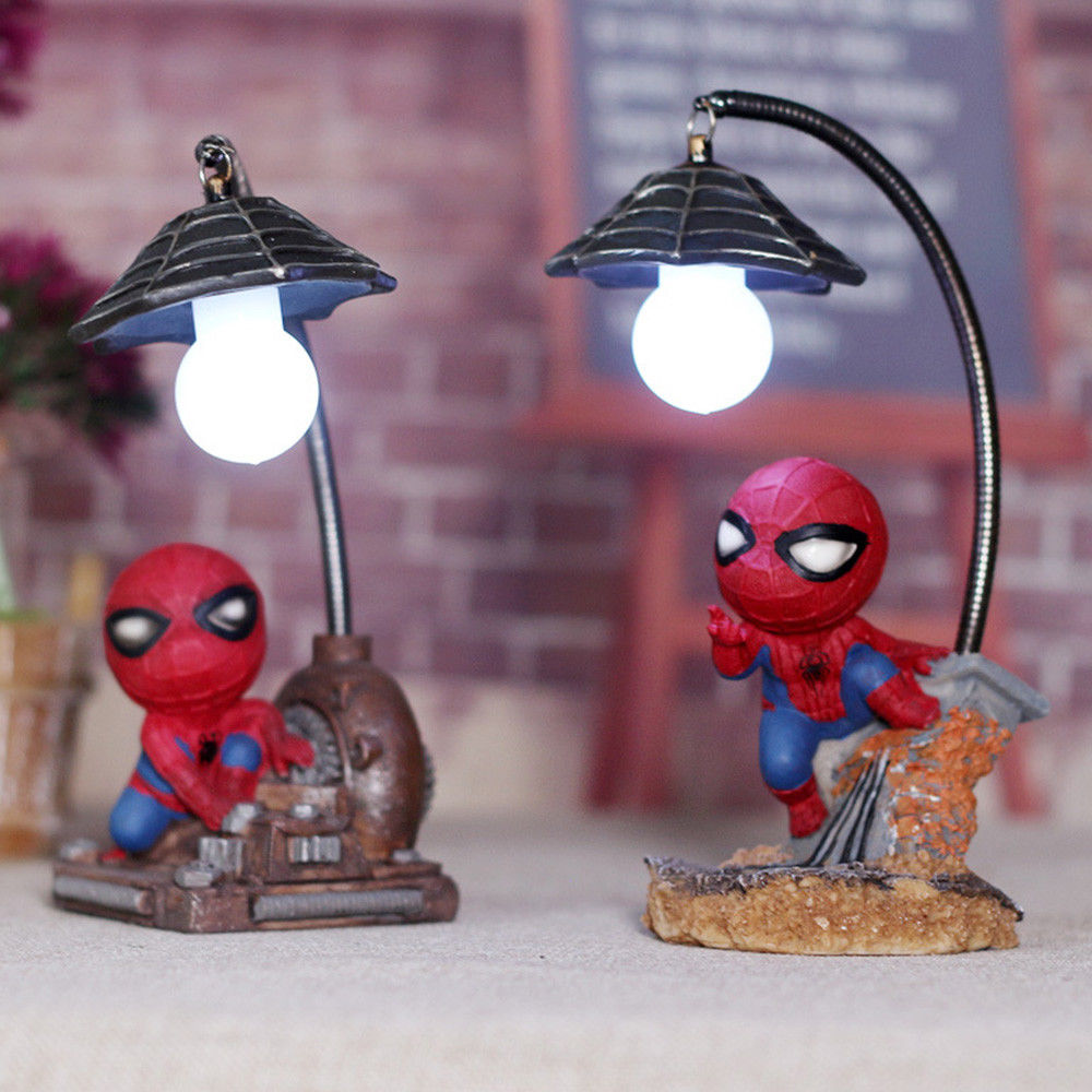 Image 5 - HOT Spiderman Led Night Light Resin Spider Man Lamp for Children Kids Rooms Home Left Decor Birthday Christmas Gifts-in Night Lights from Lights & Lighting
