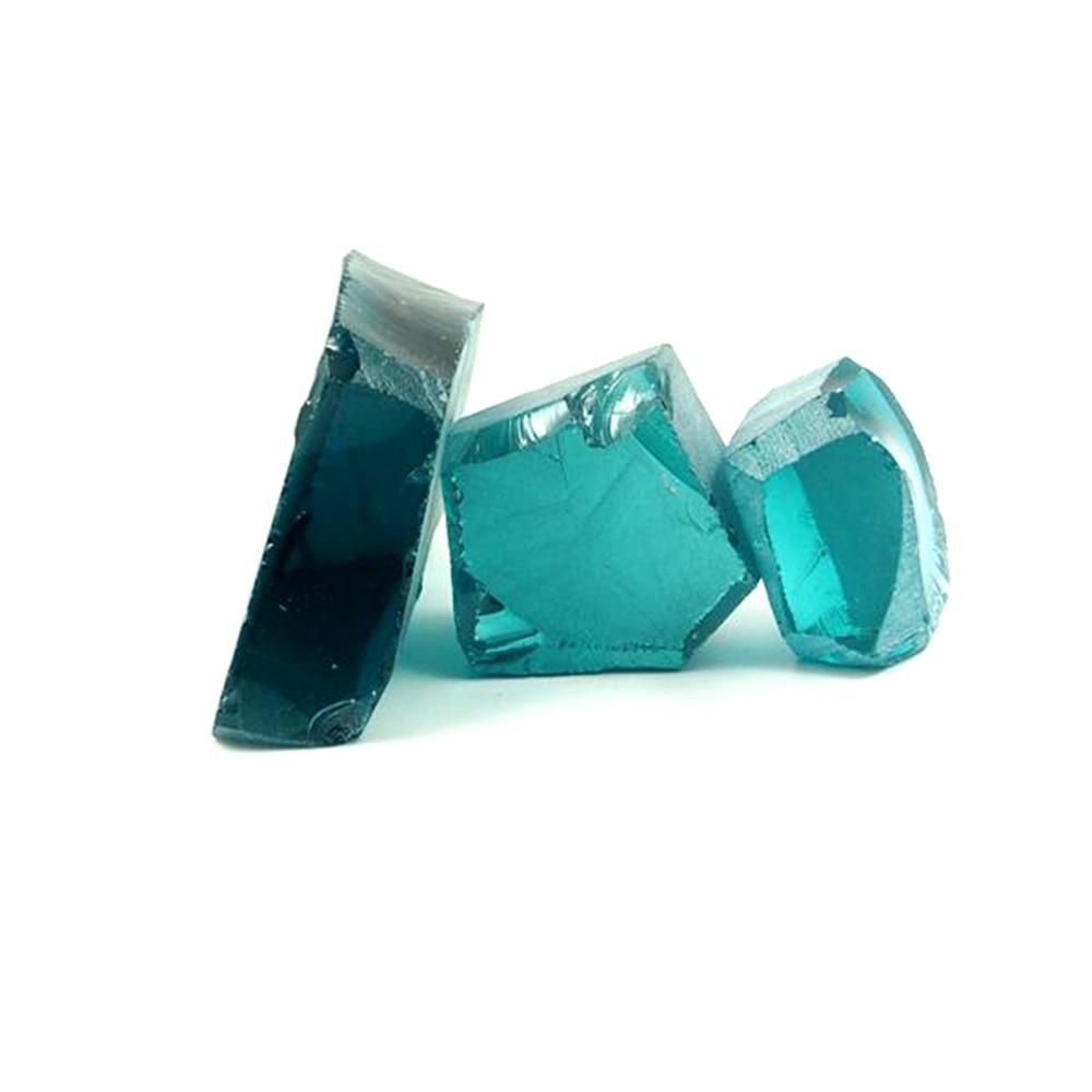 0.2kg /bag Uncut Hydrothermal Paraiba Light A108B# sital material Laboratory emerald gemstone for jewelry