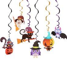 Plafond suspendu tourbillon, 6 pièces, décoration de fête d'halloween, fournitures de fête de Festival d'horreur, bricolage, ornements de fête