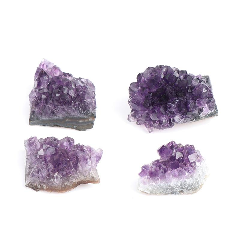 Лидер продаж 10-50 г натуральный аметист кварц кластера с украшением в виде кристаллов минеральной исцеления камни подарок грубые домашний д...