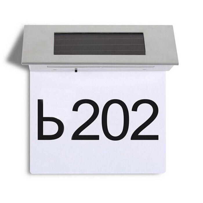 2019 venda quente 4led solar powered doorplate