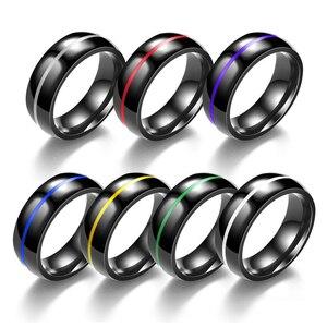 Размер 5-11 классическое ружье, черное покрытие, нержавеющая сталь, мужское кольцо, зеленый, красный цвет, эмаль, мужские кольца на палец, хит п...