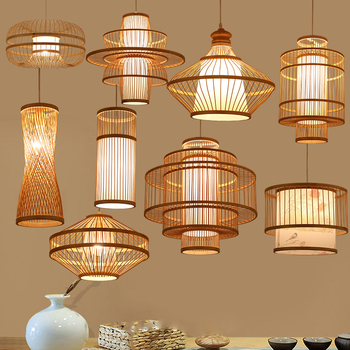 Chinese Wooden Bamboo Led Pendant Lights Kitchen Living Room Individual Hanglamp Restaurant Pendant Lamp Luminaire Led Fixture modern pendant lights spherical design white aluminum pendant lamp restaurant bar coffee living room led hanging lamp fixture