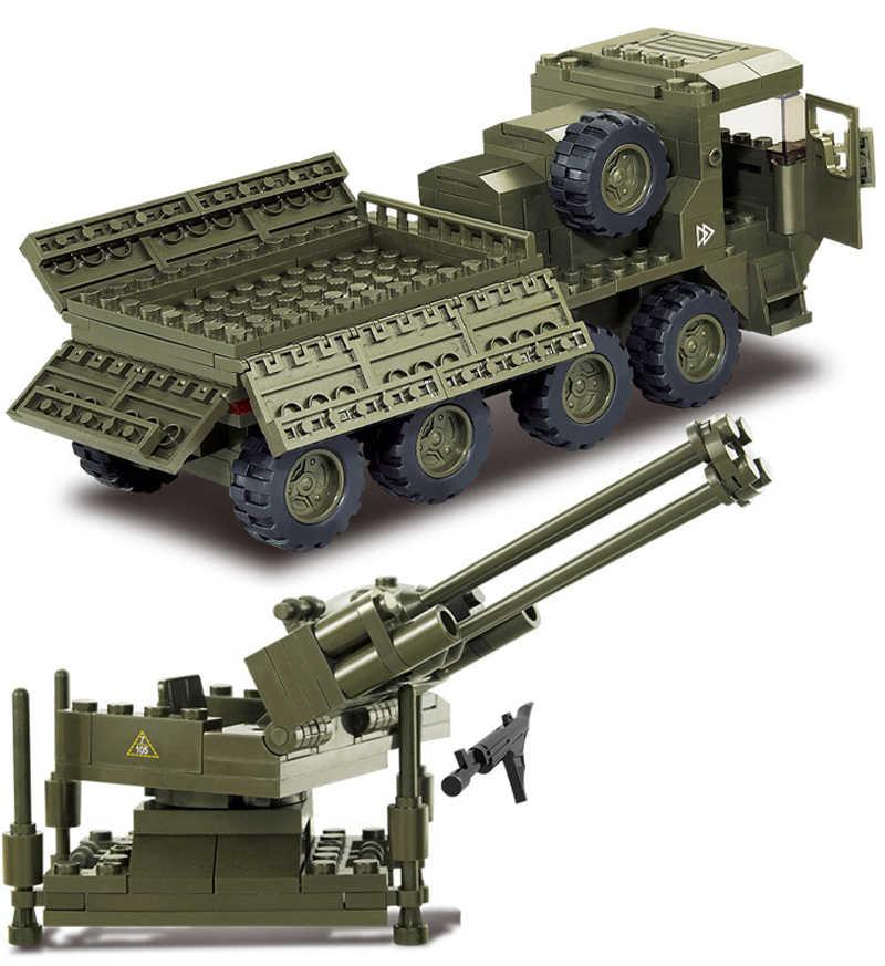 Sluban 0302 306 ชิ้นเข้ากันได้กับ DIY TANK Building Block กองทัพ Transporter สำหรับเด็กวันเกิดของเล่น DIY อิฐ MOC