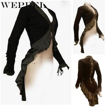 Steampunk Women Gothic Victorian Suit Tailcoat Jacket Vintage Bolero Jacket Medieval Renaissance Retro Overcoat Cosplay Costume(China)