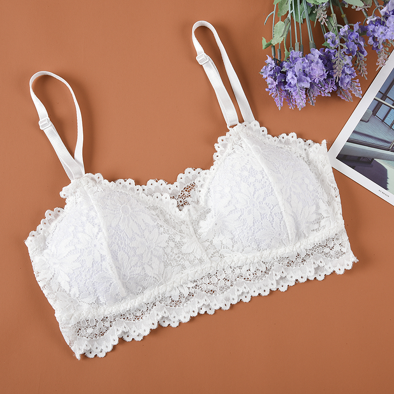 2019 New Arrival Women Push Up Wireless Lace Bra Top Women Plus Size Bralette Lingerie Full Cup Underwear