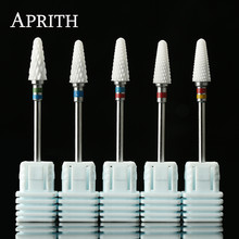 APRITH 1pc Mill Cutter Ceramic Nail Drill Bit For Electric Manicure Machines Pedicure Nail Art Salon Polish Tools Nail Files(China)