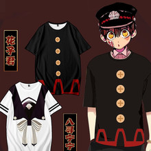 Anime Toilet-Bound Hanako-kun Nene Yashiro cosplay Costumes T-shirt Summer Mens Hanako kun short-sleeve Tees Couple Clothes(China)