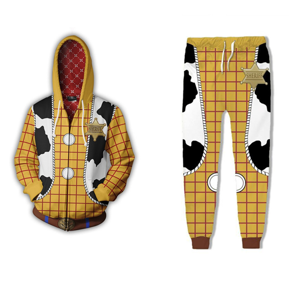 Toy Story Sherif Woody Hoodies Jackets Cosplay Costumes 3D printing Men women kids Boy Sports Suit