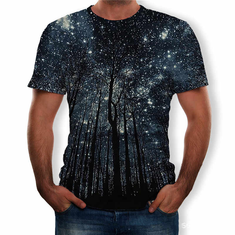 Mannen Zomer Korte Mouw Big Size T-Shirts Casual O-hals 3D Print Tops Tees Man Streetwear Losse Truien T-Shirt Plus Size 5XL