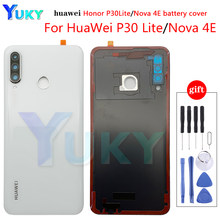 Original For Huawei P30 Lite Back Battery Cover Nova 4e Rear Glass Door Case For Huawei P30 Lite Battery Cover With Camera Lens