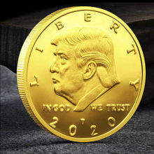 AA 2020 President Donald Trump Gold Silver Plated Commemorative Coin Keep America Great Gift Collection coins metal gold plated souvenir gift art collection physical bitcon coin btc case antique imitation commemorative design custom