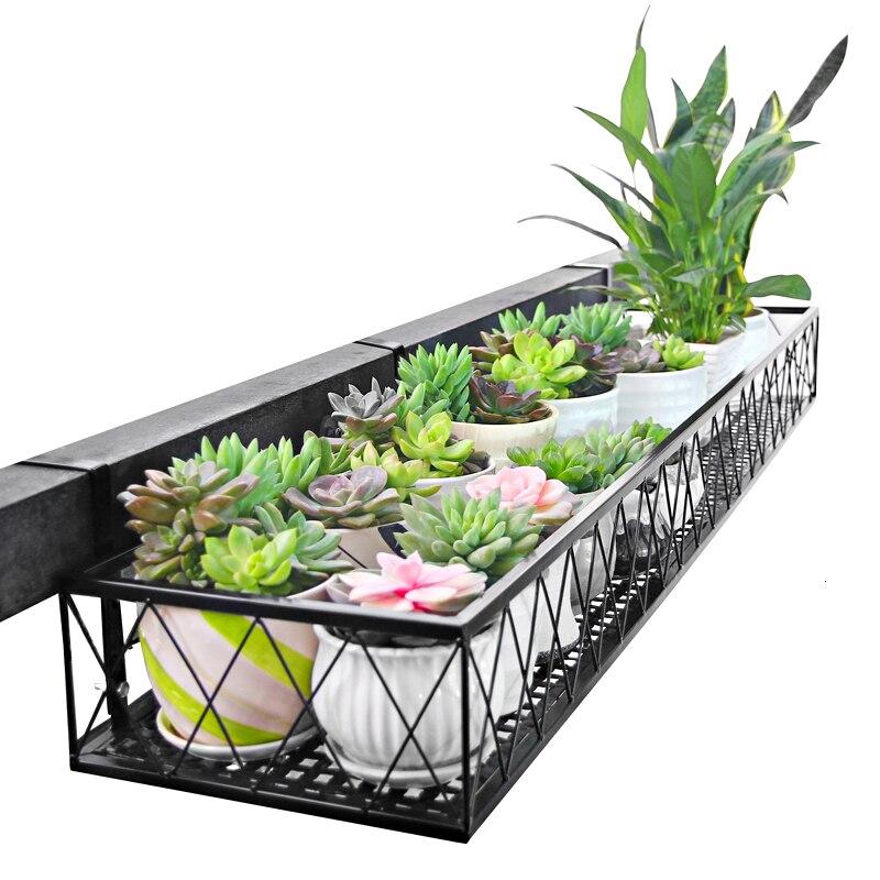 Balcony Flower Rack Suspension Iron Art Guardrail Flowerpot Pylons Meaty Railing Green Luo Flower Airs Room Built in Rack|Plant Shelves| |  - title=