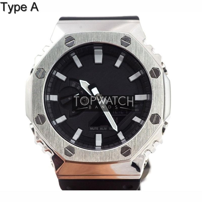 pulseira bezel aço inoxidável pulseira de relógio