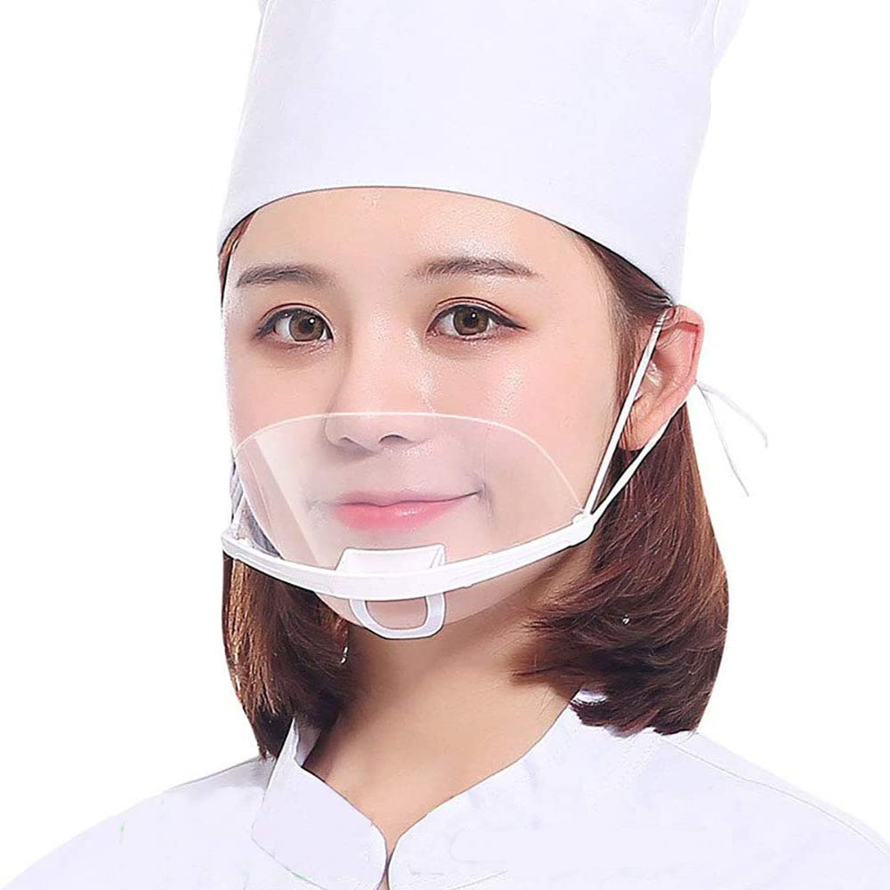 5/10/20PCS Reusable Transparent Anti-fog Mask Shield Cover Plastic Anti-saliva Mouth Shield Mouth Mask Kitchen Specialty Tools