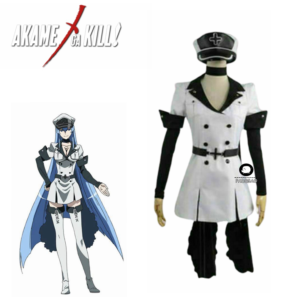 Japanese Anime Akame ga KILL Esdese Esdeath Cosplay Costume Esdese Akame ga KILL Cosplay Costume