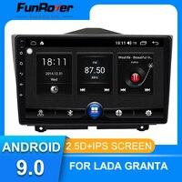 Funrover For LADA Granta 2018 2019 android 9.0 Car Radio Multimedia Player autoradio Navigation GPS 2 din 2.5D IPS no dvd 9 inch