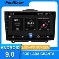 Funrover para LADA Granta 2018 2019 android 9,0 reproductor Multimedia para coche de Radio navegador GPS 2 din 2.5D IPS SIN dvd 9 pulgadas