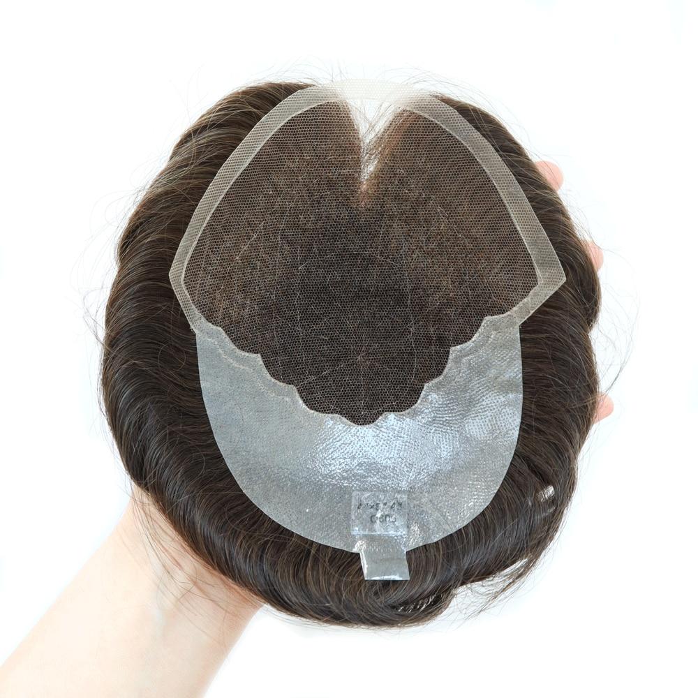 Clearance Sale Q6 Small Size Men Toupee Lace & PU Men Toupee Wig