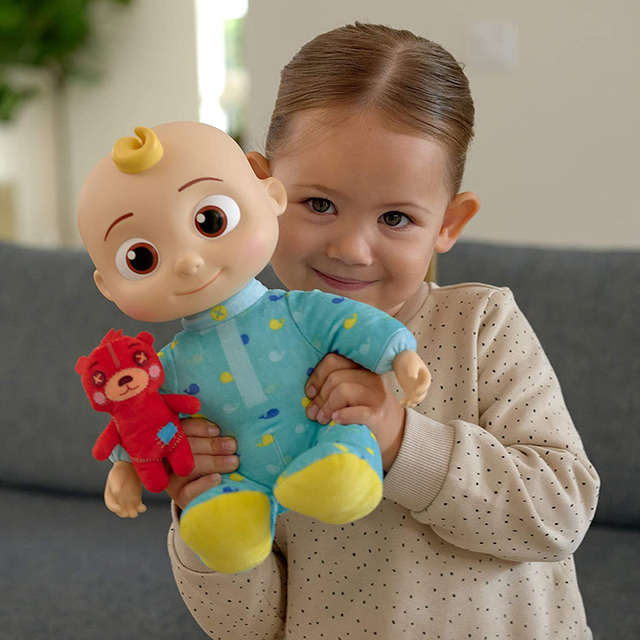 JJ Cocomelon Toy Musical Bedtime Soft Plush Doll For Baby Music Barbie Doll Family Kids Toys Birthday Gift Anime Plushie 2