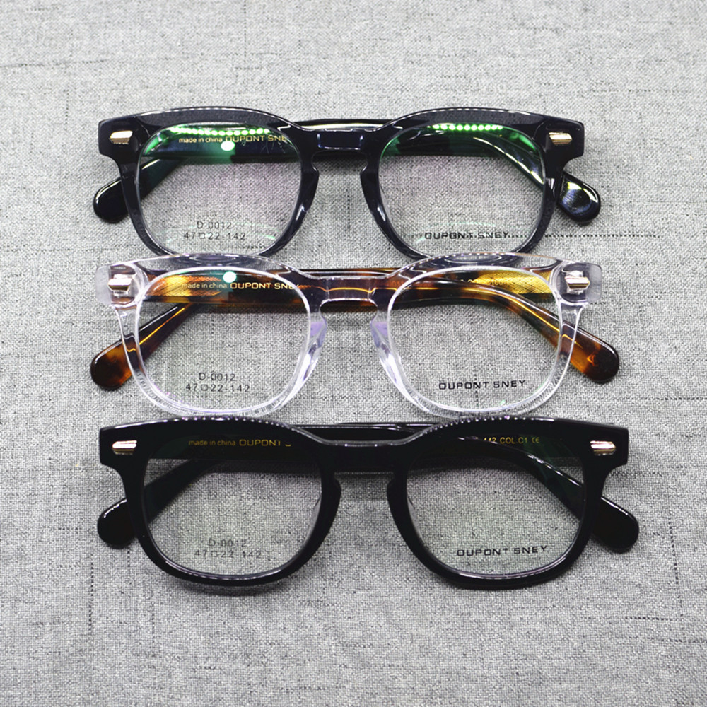 Vintage Acetate Hand Made Full Rim Square Eyeglass Frames Men Women Myopia Rx Able Glasses Top Quality