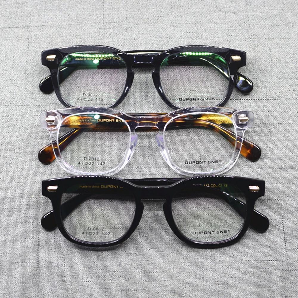 Vintage Acetate Hand Made Full Rim Square Eyeglass Frames Men Women Myopia Rx Able Glasses Top Quality